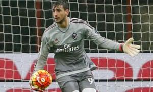 Milan goalkeeper Gianluigi Donnarumma