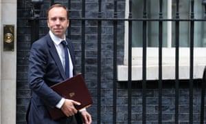Britain's Health and Social Care Secretary Matt Hancock