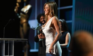 Jennifer Aniston accepts the Outstanding Performance by a Female Actor in a Drama Series award for The Morning Show