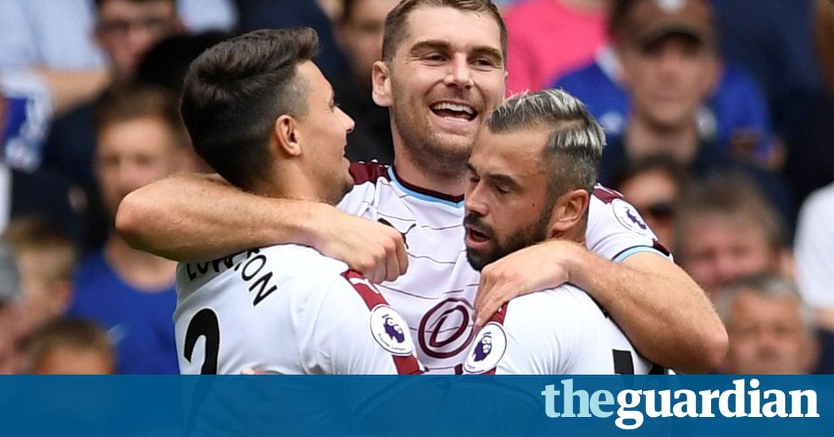 Nine-man Chelsea shocked by Sam Vokes double for Burnley