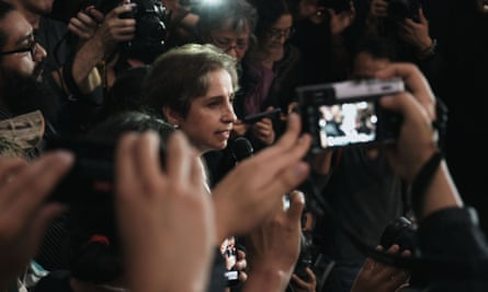 Carmen Aristegui is shown in a still from Radio Silence, which is airing at the Human Rights Film Festival.