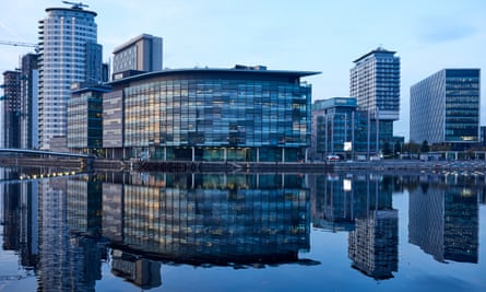 Media City in Salford, home to the BBC