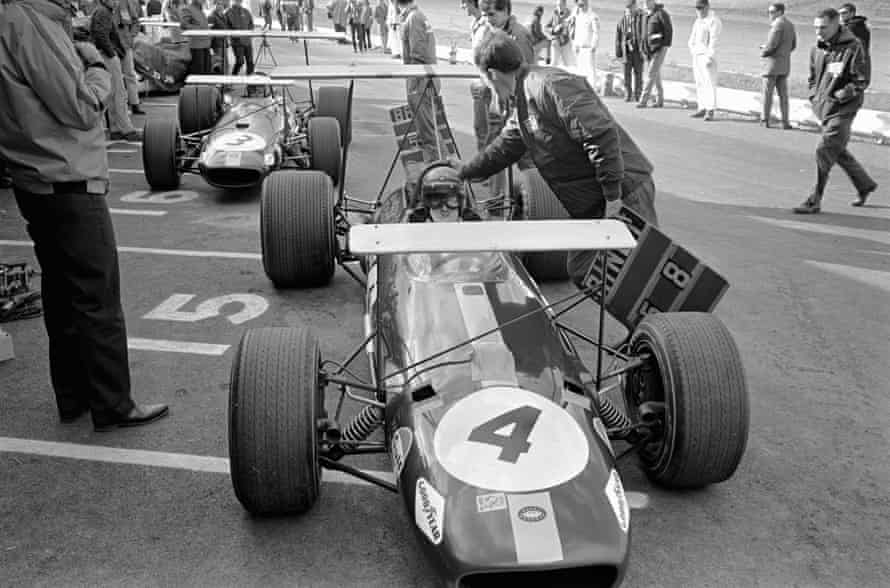 Jochen Rindt in his Brabham BT26 before the United States Grand Prix on 6 October 1968