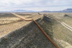 The border wall near Naco, Arizona.