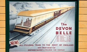A Southern Railways poster for the Devon Belle, which boasted an observation car on its Ilfracombe service.