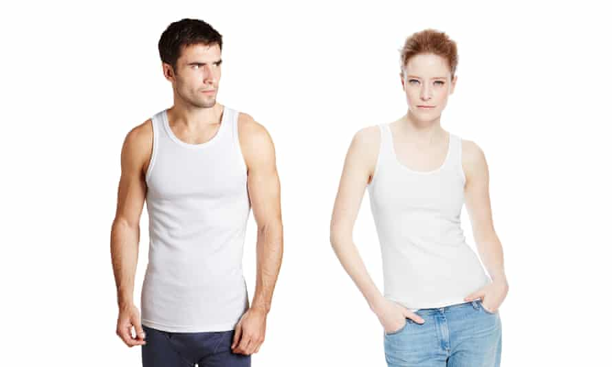 A plain 100% cotton women's vest costs £6 at M&S (if you can find it among all the overly ornate ones), while men get three pure cotton equivalents for £12.50.