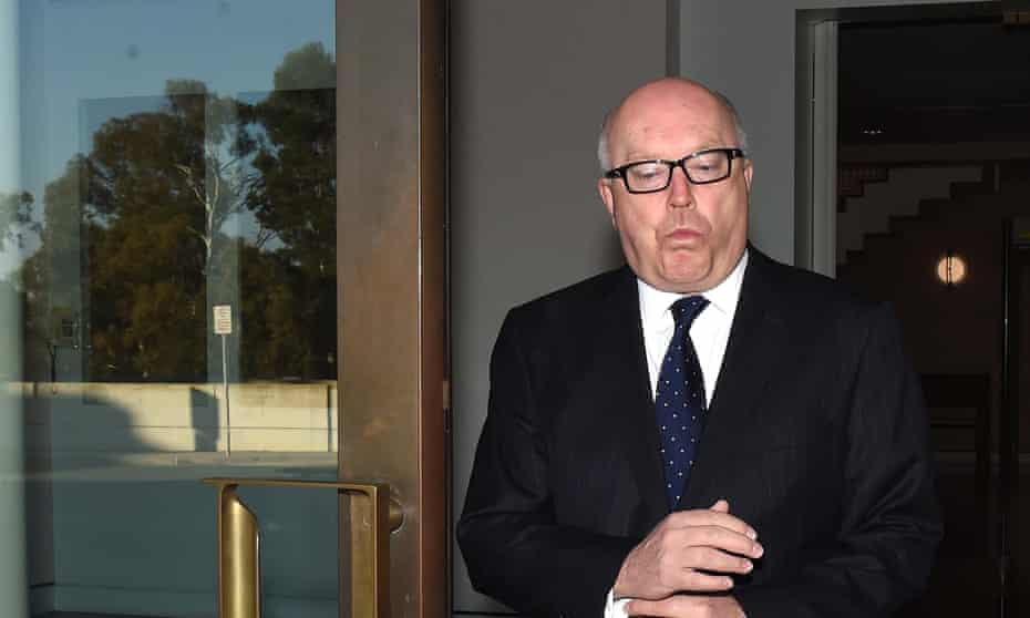 Hold your tongue: attorney general and arts minister George Brandis.