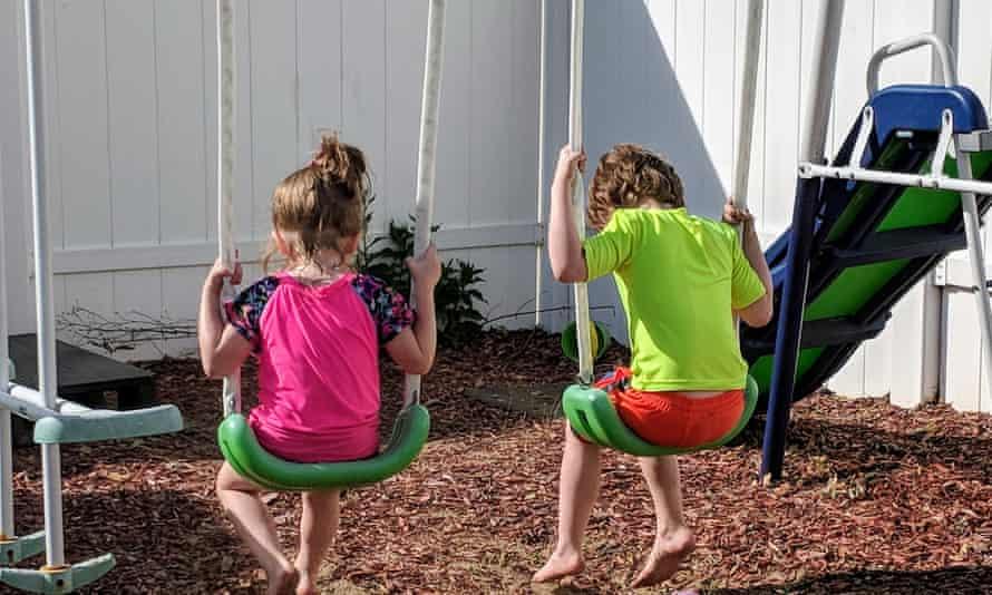 Antoinette Catholdi-Dow's children play.