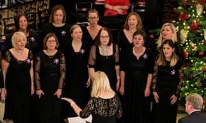 Members of the Military Wives Choirs performing at a Royal Air Force Christmas event in London last year.