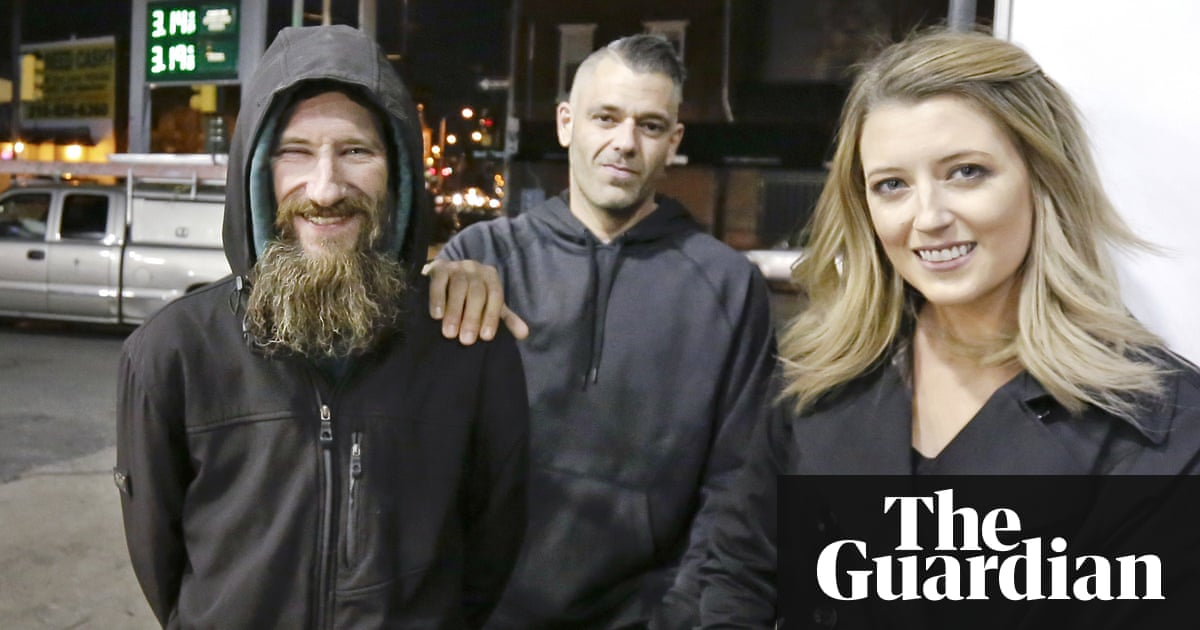 GoFundMe for homeless veteran who helped woman brings in $320,000   US news    The Guardian