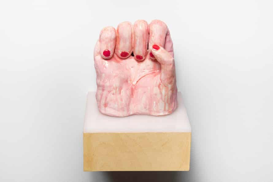 We Shall Overcome, 2015, Ceramic, wood and plexi, © Margaret Meehan, Courtesy of Flowers Gallery