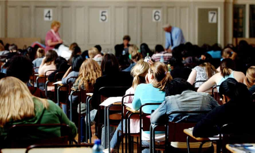 Students sitting an exam.