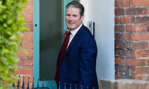 The new leader: Keir Starmer at his home in London.