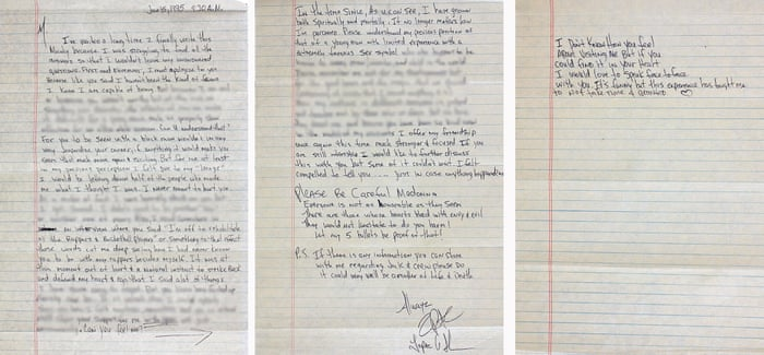 Tupac letter claims race issues caused breakup with Madonna