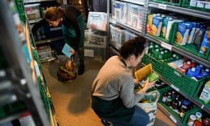 A food bank in Wandsworth, south London