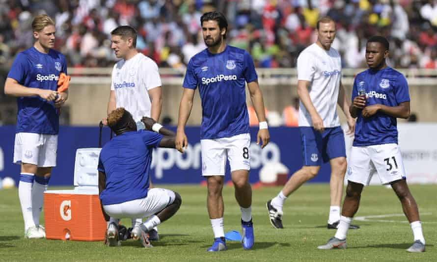 Everton prepare this month for a friendly in Kenya, where SportPesa was founded.