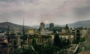 A view of Sarajevo after the conflict, in 1996.