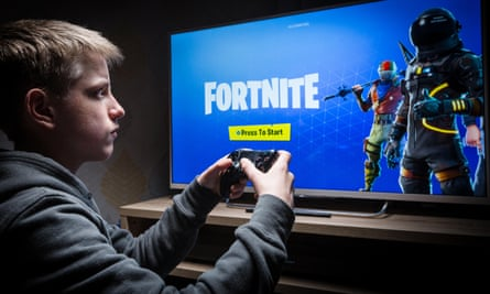 Worrying times ... half of parents of 12 to 15-year olds are concerned about their children playing online games like Fortnite.