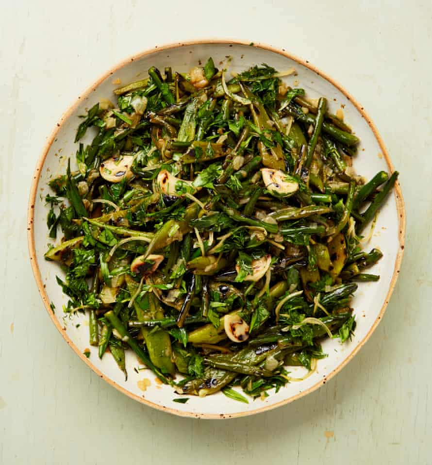 You'll never go back to boiled: Yotam Ottolenghi's charred lemony braised beans.