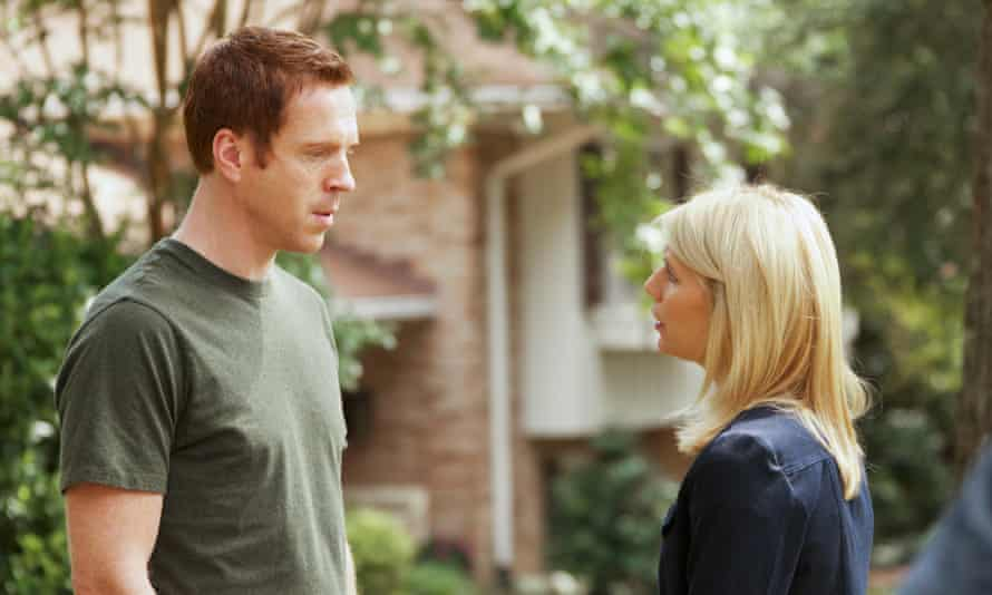 'A heady mix of betrayal and lust' ... Claire Danes and Damian Lewis as Carrie and Brody.