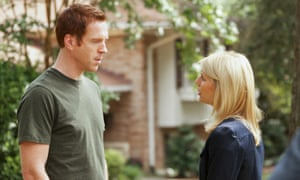 Nicholas Brody (Damian Lewis) and Carrie Mathison (Claire Danes).