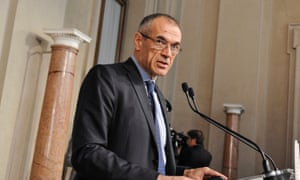 Carlo Cottarelli, the new prime minister of Italy.
