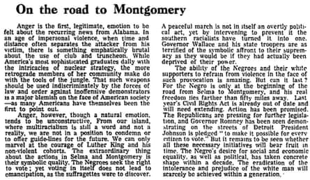 Selma to Montgomery march Guardian leader, 11 March 1965
