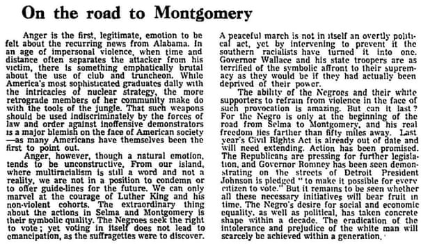 Selma to Montgomery: Martin Luther King and the march for