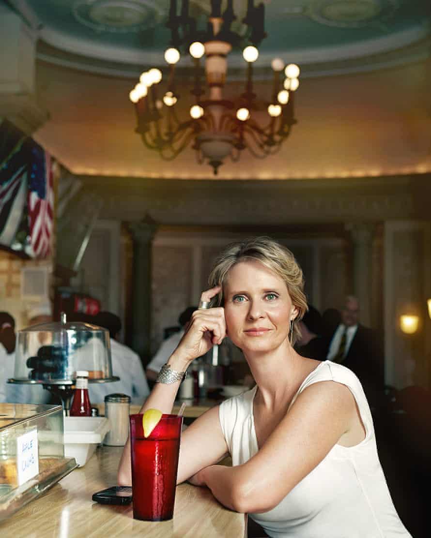 Cynthia Nixon at Empire Cafe by Eric McNatt