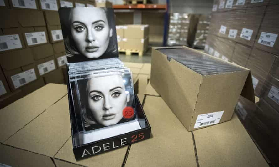 Ready to ship … copies of Adele's 25 in a music distribution warehouse. Photo: AFP/Getty Images