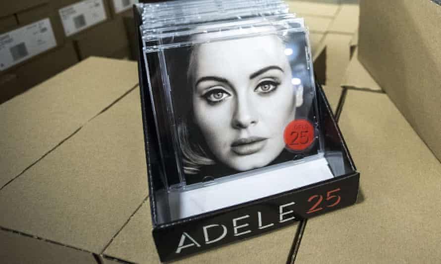 Adele's album 25 on CD.