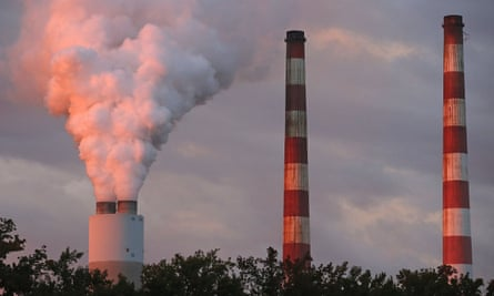 Emissions spew out of a stack at the coal-fired Morgantown Generating Station in Newburg, Maryland.