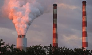 Emissions spew out of a large stack at the coal-fired Morgantown generating station in Newburg, Maryland.