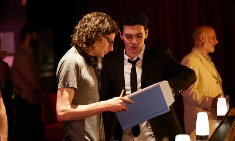 Scene stealer: Simon Amstell rehearsing for Benjamin.