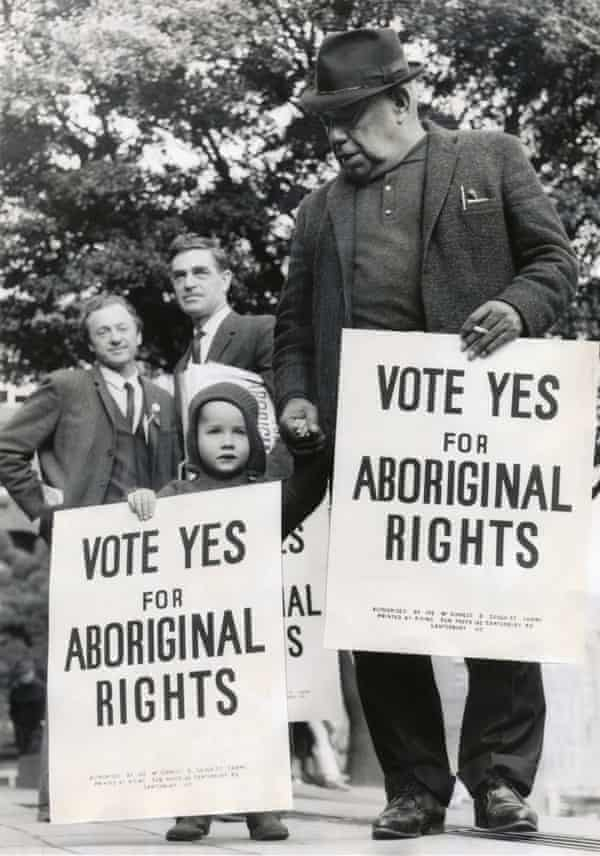 Bill Onus at the march for Aboriginal rights referendum in 1967.