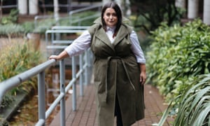 Danielle Vanier models her favourite item from the Curve collection, a sleeveless Khaki trenchcoat.