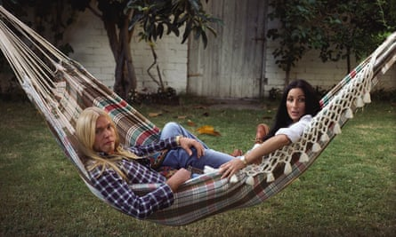 Cher with Gregg Allman taking it easy in 1977.