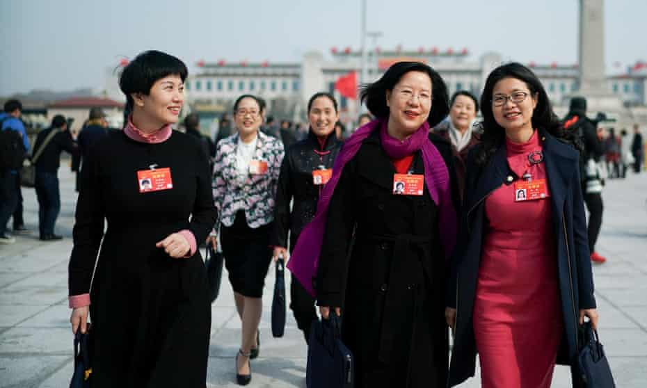 Delegates arriving at the Great Hall of the People in Beijing last week for the party congress.