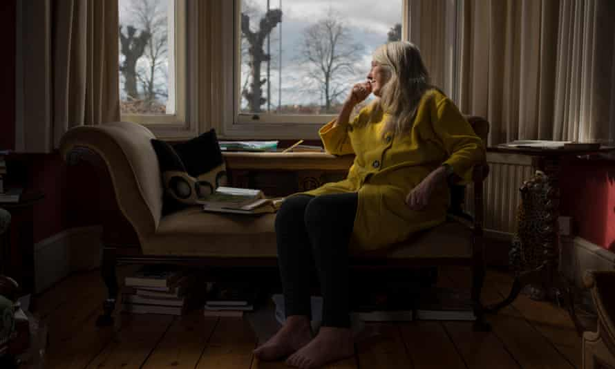Mary Beard in her house in Cambridge.