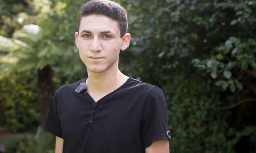 Ishmael, a Syrian refugee, 18, seen at the home of his foster family