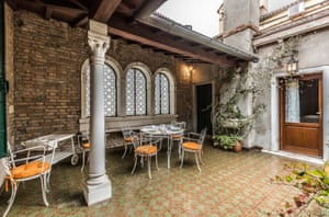 On the main floor, completely hidden from external view, is a galleried terrace.