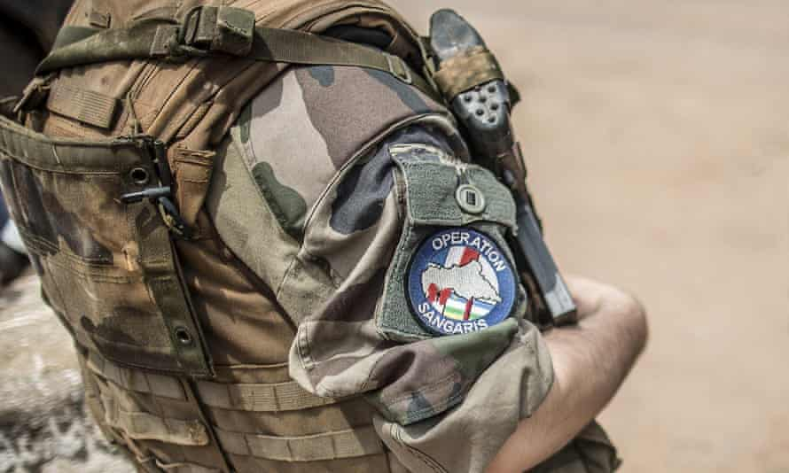 A French soldier with  Operation Sangaris in Bangui, Central African Republic, last year.