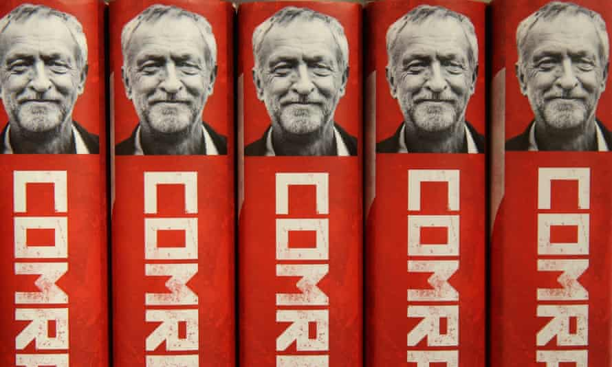 Copies of a new biography of Jeremy Corbyn