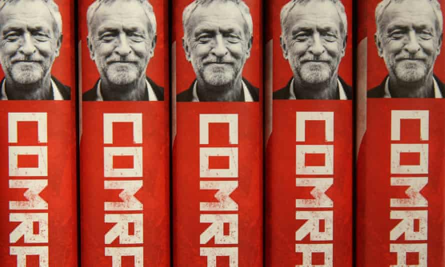 Copies of the book Comrade Corbyn by Rosa Prince are displayed at a bookshop. His followers believe you are either for his revolution or against it.
