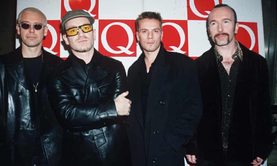 U2 at 1996's Q awards.