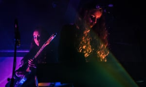 Jenny Hollingworth and Rosa Walton of Let's Eat Grandma performs at Electrowerkz