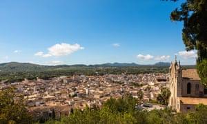 View of Artà town.