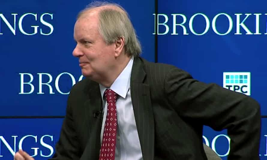 Dana Trier, here at a 2018 Brookings Institution event, was hired by the Trump administration to help write the tax bill. 'I thought I could make it work,' he said of the tax bill. 'And in fact, we didn't reach my standard.'