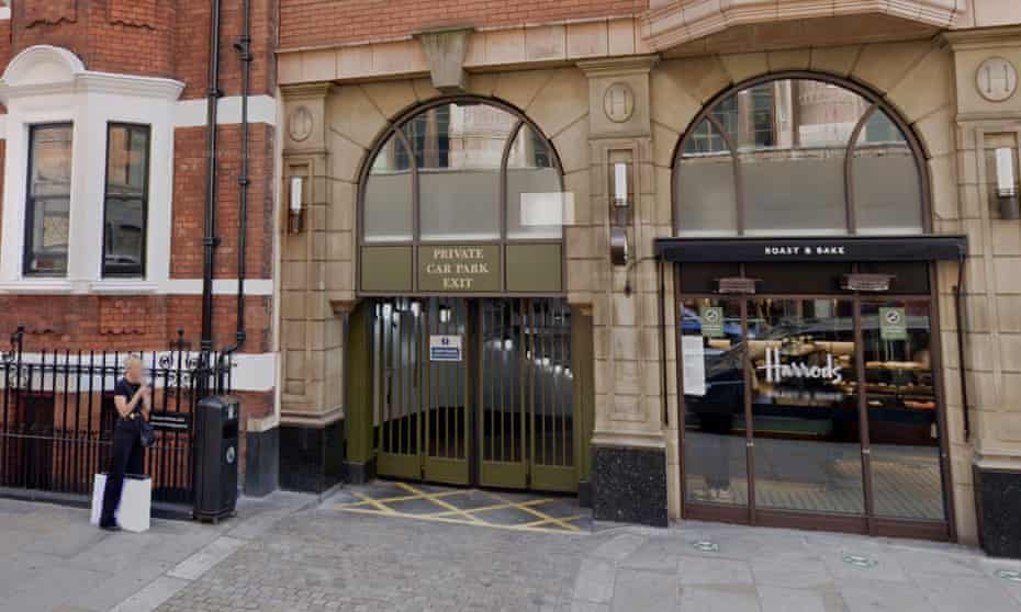 Access to the £250,000 parking space is on Basil Street, Knightsbridge.