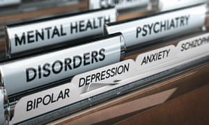 draw full of files labelled with mental health disorders